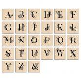 Holzbuchstaben Buchstabensteine florales Alphabet