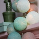 "Cotton Ball Lights - LED Lichterkette ""Mint"" 20-tlg."