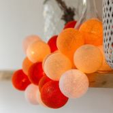 "Cotton Ball Lights - LED Lichterkette ""Orange"" 20-tlg."