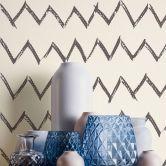Designdschungel by Laura N. Vliestapete mit Zickzack Muster matt glänzend schwarz, weiß