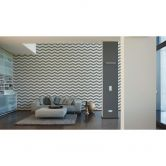Designdschungel by Laura N. non-woven wallpaper metallic, white