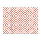 Stickers pour carrelage Watercolor - Carreaux diagonales - Corail - Set de 12