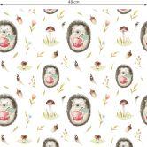 Patterned Wallpaper Kristina Kvilis – Hedgehogs