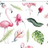 Patterned Wallpaper Kvilis Tropicana -Flamingo 02