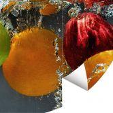 Fototapete Erfrischendes Obst - Rund