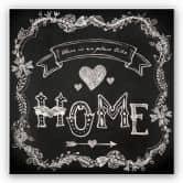 Wandbild There is no Place like Home