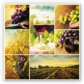 Wandbild Wein Collage - quadratisch
