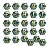 Hexagon Alu-Dibond Goud Decoratieletters - Jungle