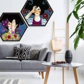 Hexagon - Alu-Dibond - Hülya - Erinnerungen verlieren