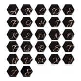 Hexagone Lettres Décoratives - Alu-Dibond effet cuivré - noir