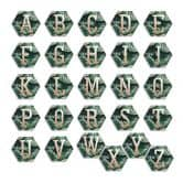 Hexagon Alu-Dibond Koper Decoratieletters - Jungle