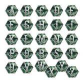 Hexagon Buchstaben - Alu-Dibond Silbereffekt - Urban Jungle