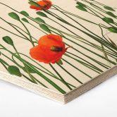 Hexagon - Holz Kadam - Flora Mohn