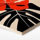 Hexagon - Holz Kubistika - Monstera Duett