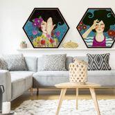 Hexagon - Holz Birke-Furnier - Hülya - Erinnerungen verlieren
