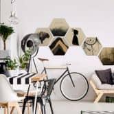 Hexagon - Holz Birke-Furnier - Nemcekova - Black Widow