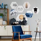 Hexagon - Alu-Dibond Kubistika – Golden Fern