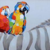Öl-Wandbild Papagallos 120cm x 40cm