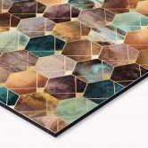 Küchenrückwand Fredriksson - Hexagone: Gold und Kupfer