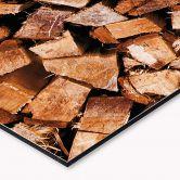 Küchenrückwand - Alu-Dibond - Holz