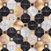 Küchenrückwand Fredriksson - Art Deco: Gold und Schwarz