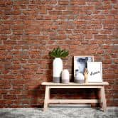 Livingwalls wallpaper brick effect vintage red