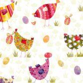 Möbelfolie Blanz - Bunte Hühner