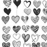 Möbelfolie Herz Variationen