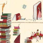 Möbelfolie Leffler - Bücherwürmer