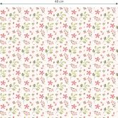 Mustertapete - Aquarell Blüten 01 - rot