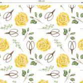 Mustertapete - Aquarell Blüten 04 - gelb
