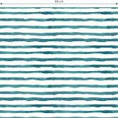 Mustertapete - Aquarell Streifen 01 - türkis