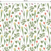 Patterned Wallpaper - Watercolour Tulips