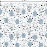 Mustertapete - Heißluftballon - blau