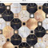 Mustertapete Fredriksson - Art Deco: Gold und Schwarz