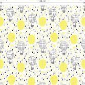 Mustertapete - Heißluftballon - gelb