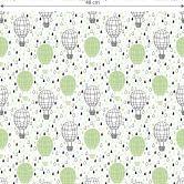 Mustertapete - Heißluftballon - grün