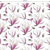 Mustertapete - illustrierte Blüten - pink
