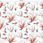 Mustertapete - illustrierte Blüten - rot