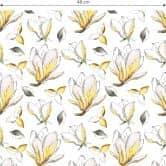 Mustertapete - illustrierte Blüten - gelb