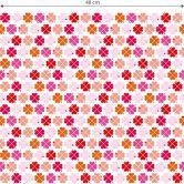 Patroonbehang byGraziela - Klavertjes vier roze