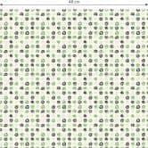 Mustertapete - Kringel - grün