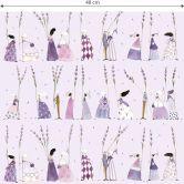 Papier peint à motifs Leffler  - Femmes lavande