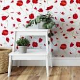 Mustertapete Leffler - Mohnblüten