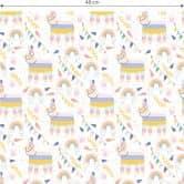 Patterned Wallpaper – Rainbow llamas