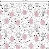 Mustertapete - Heißluftballon - rosa