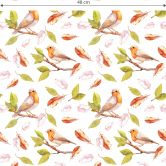 Patterned wallpaper – Red Robin