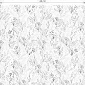 Mustertapete Graphic Flowers - Blumenfeld schwarz-weiß