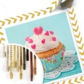 Poster Hearts on Cupcake