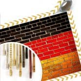 Poster Deutsche Flagge Mauer